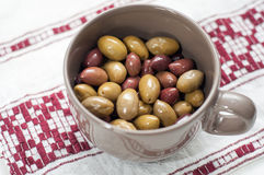 Olives bowl Stock Photo