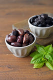 Olives in bowls Royalty Free Stock Photos