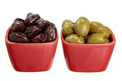 Olives in Bowls Royalty Free Stock Photo