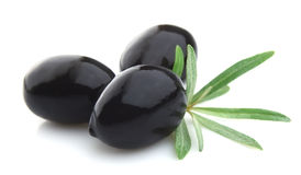 Olives with a branch Stock Photo