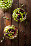 Olives in Brine Royalty Free Stock Photo