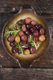 Olives in brine Stock Images