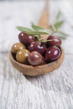 Olives in brine Stock Image