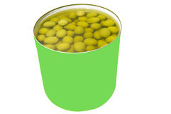 Olives can Royalty Free Stock Photos