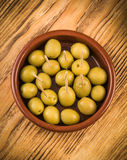 Olives in classic mud pie Royalty Free Stock Images
