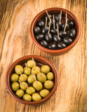 Olives in classic mud pie Royalty Free Stock Photography