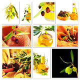Olives collage stock image