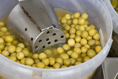 Olives in conserve from a market Royalty Free Stock Photo
