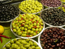Olives d'assortiment Images stock