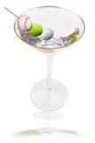 Olives de bille de Martini et de sport illustration de vecteur