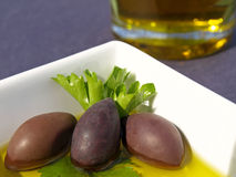 Olives in dish Royalty Free Stock Photo