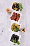 Olives and dried tomato Stock Photography