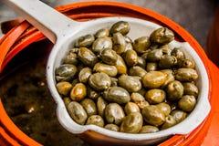 Olives du marché de Rhodes Photographie stock libre de droits