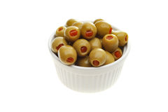 Olives en ramekin images libres de droits