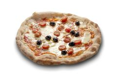 Olives et basilic de tomates de mozzarella de pizza Photo libre de droits