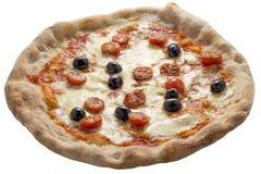 Olives et basilic de tomates de mozzarella de pizza Image stock