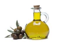Olives et huile d'olive Photos libres de droits