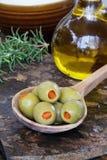 Olives et pétrole Photos stock