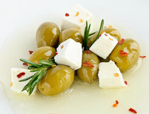 Olives and feta Stock Photo