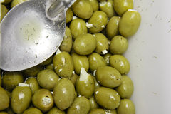 Olives with feta Stock Photography