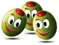 Olives filled with smile Stock Image