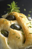 Olives focaccia Royalty Free Stock Photo