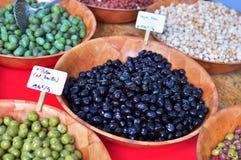 Olives, food market Royalty Free Stock Image