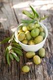 Olives fraîches Photo libre de droits