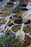 Olives at a french market Royalty Free Stock Photography