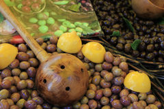 Olives at a French market Stock Photography