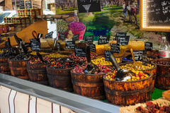 Olives in a French Market Stock Images