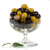 Olives in glass Stock Images