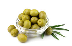 Olives in a glass glass Stock Photo