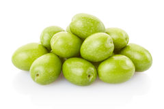 Olives heap. On white, clipping path included stock photos