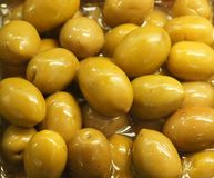 Olives jaunes Photos libres de droits