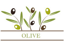 Olives label Stock Photos
