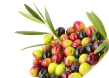 Olives with leafs. Stock Photography