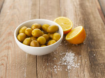 Olives and Lemons Royalty Free Stock Image