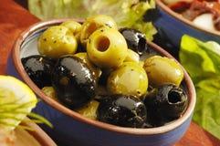 Olives marinées Photo libre de droits