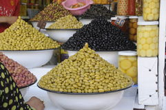 Olives at market Royalty Free Stock Photography