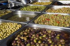 Olives at the market Stock Image