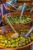 Olives in the market Stock Image