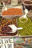 Olives on the market Royalty Free Stock Photo