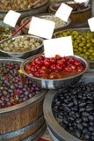 Olives. On the market in Italy Royalty Free Stock Photos