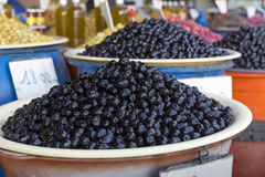 Olives on a market in Morocco Stock Photos