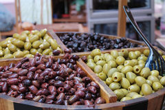 Olives. On the market in Prague, Czech Republic Royalty Free Stock Photo