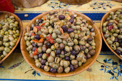 Olives on market Royalty Free Stock Photo