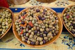 Olives on market Royalty Free Stock Photo