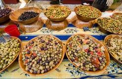 Olives on market Royalty Free Stock Image