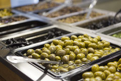 Olives at the market stock images